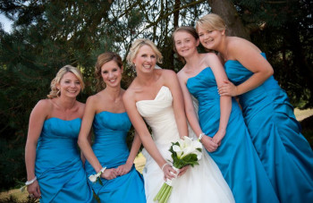 bride and bridesmaids kent
